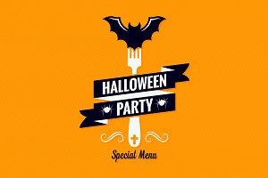 Halloween menu design background.