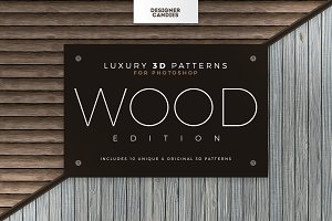 Seamless 3D Wood Patterns & Textures