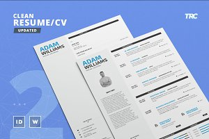 Clean Resume/Cv Template Volume 2