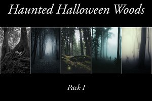 Haunted Halloween Woods Pack 1