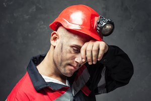 tired coal miner