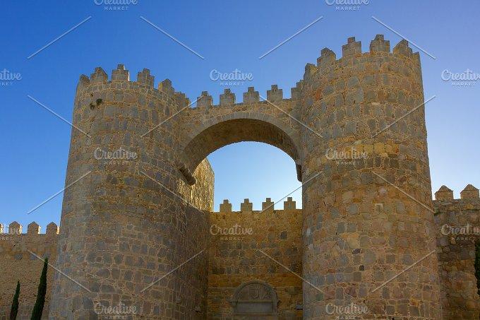 Avila, Spain. Scenic medieval city - Architecture