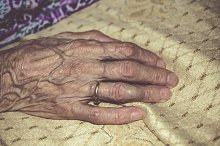 Old woman hand