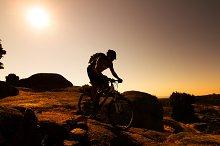 Mountain biker silhouette