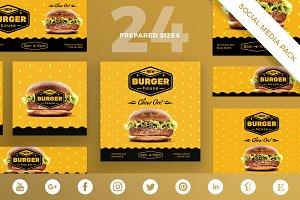 Social Media Pack | Burger House