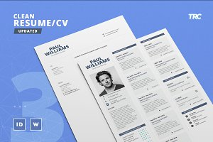 Clean Resume/Cv Template Volume 3
