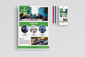Interior Design Flyer Template-V648