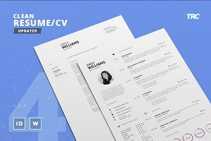 Clean Resume/Cv Template Volume 4