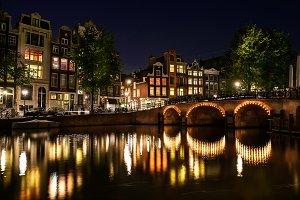 Amsterdam night view