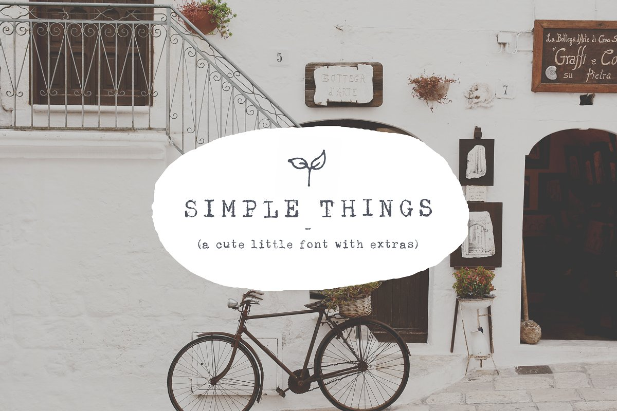 Simple Things - cute little font ~ Display Fonts ~ Creative Market