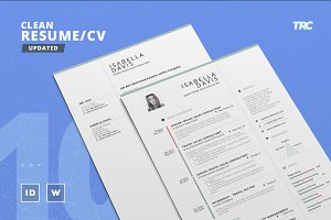 Clean Resume/Cv Template Volume 10