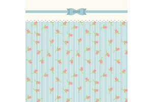 Cute shabby chic floral background for your decoration