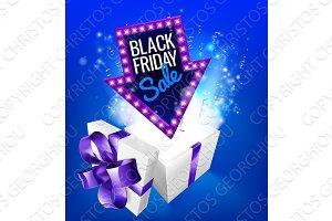 Black Friday Sale Gift Exploding Sign