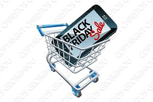 Black Friday Sale Phone Trolley Sign