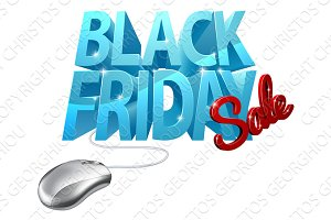 Black Friday Sale Computer Mouse Sign