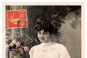 vintage greetings, telegram girl