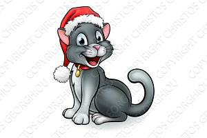 Cartoon Christmas Pet Cat