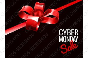 Cyber Monday Sale Gift Bow Design