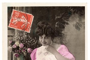 vintage greetings, telegram girl 2