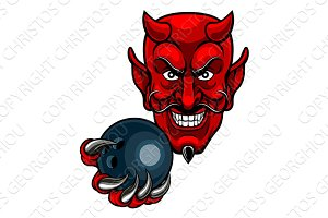 Devil Bowling Sports Mascot