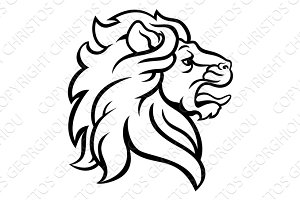 Lion Head Profile