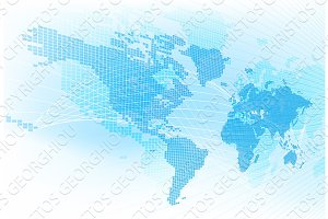 World Map Global Earth Abstract Background