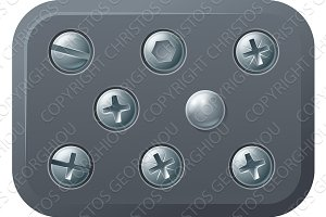 Screws and bolts design elements