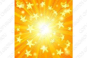 Yellow Stars Background