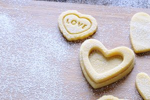 Homemade cookies for Valentine