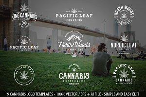 9 Modern Vintage Cannabis Logos