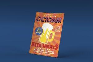 Retro Oktoberfest Beer Nights Flyer