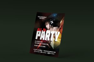 All-In Party PSD Flyer Template