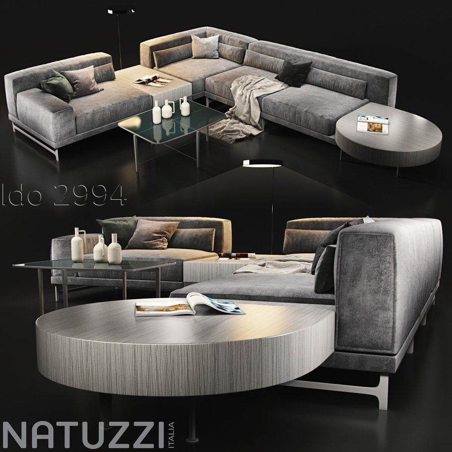 Sofa Natuzzi Ido 2994 Furniture Models Creative Market