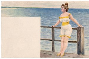 swim suit woman, 1900