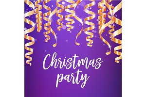 Christmas party poster of winter holidays design