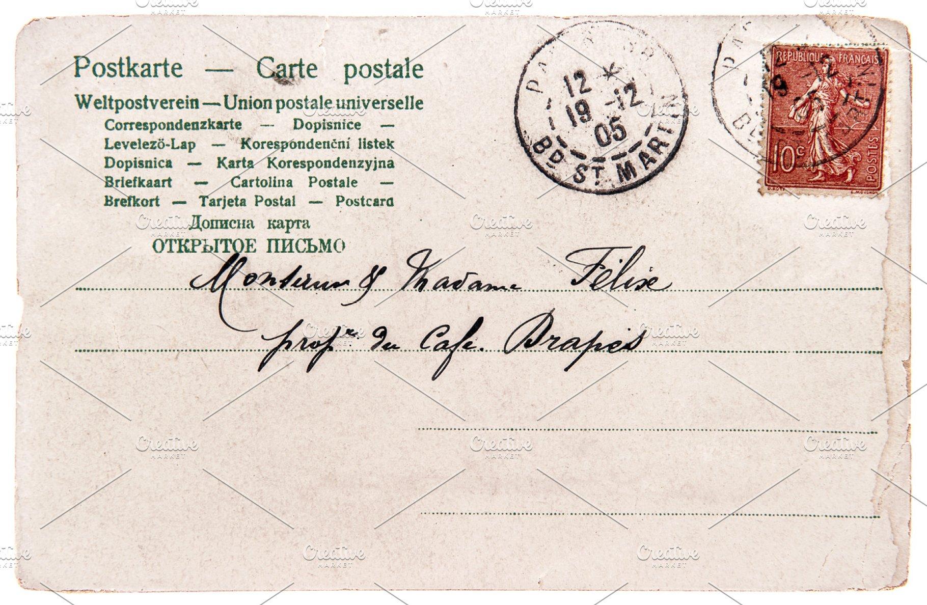 Save Old Handwritten Postcard Letter