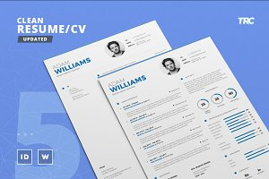 Clean Resume/Cv Template Volume 5