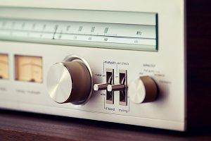 Vintage Stereo Tuner Knob