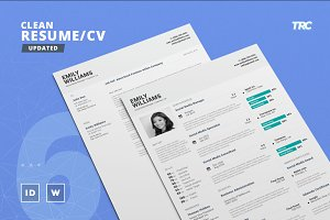 Clean Resume/Cv Template Volume 6