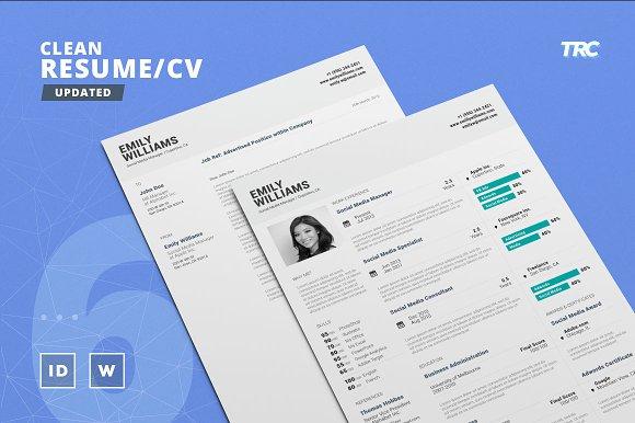 Clean Resume/Cv Template Volume 6