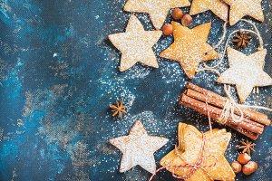 Christmas star shaped cookies
