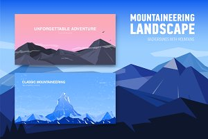 Backgrounds with mountains