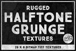 Rugged Halftone Grunge Textures