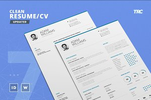 Clean Resume/Cv Template Volume 7