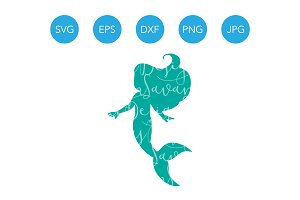 Mermaid SVG for Cricut & Silhouette