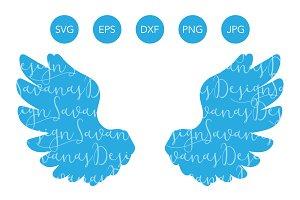 Angel Wings SVG DXF EPS PNG JPG