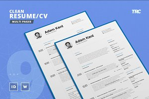 Clean Resume/Cv Template Volume 9