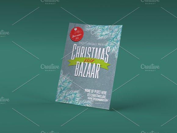 christmas bazaar 2017 flyer template flyer templates creative market