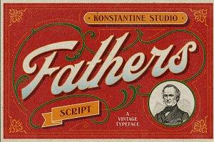 Fathers - Vintage Old Lettering Font