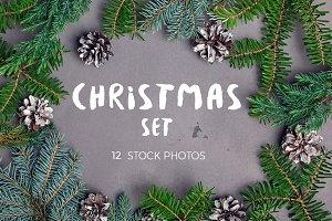 Christmas stock photo set